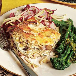 Truffled Wild Mushroom Lasagna Photo: José Picayo; Styling: Jocelyne Beaudoin